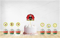 Barnyard / Farm themed Cup cake & cake topper set ( Pack of 13)