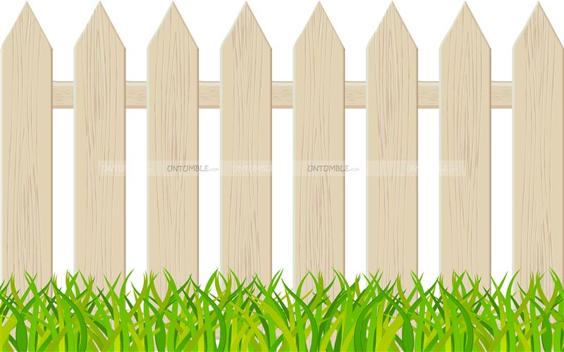 White Picket Fence Cutout