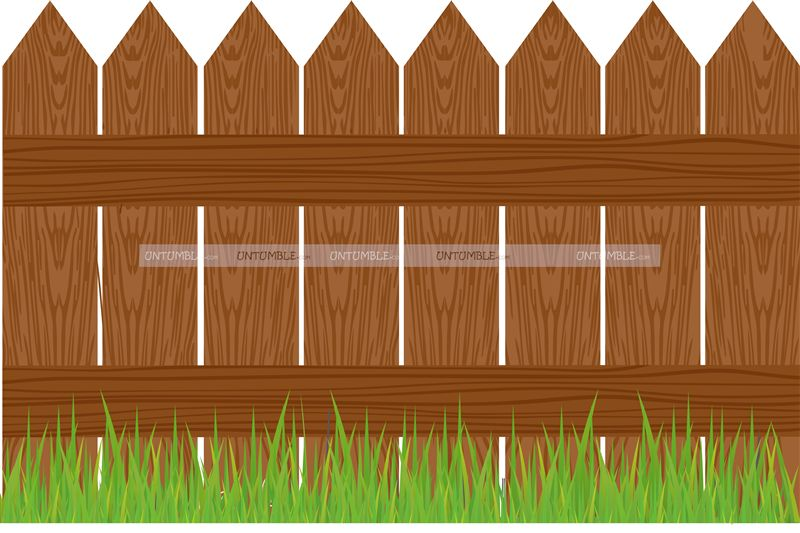 Wooden Fence Cutout