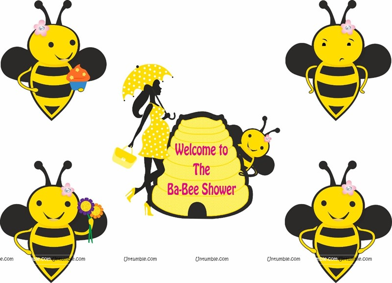 Bee theme Baby Shower Poster Pack