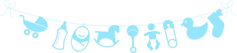 Untumble Baby Shower - Blue Banner