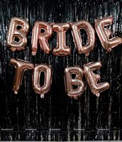 Bridal Shower Foil Balloon and Fringe Backdrop
