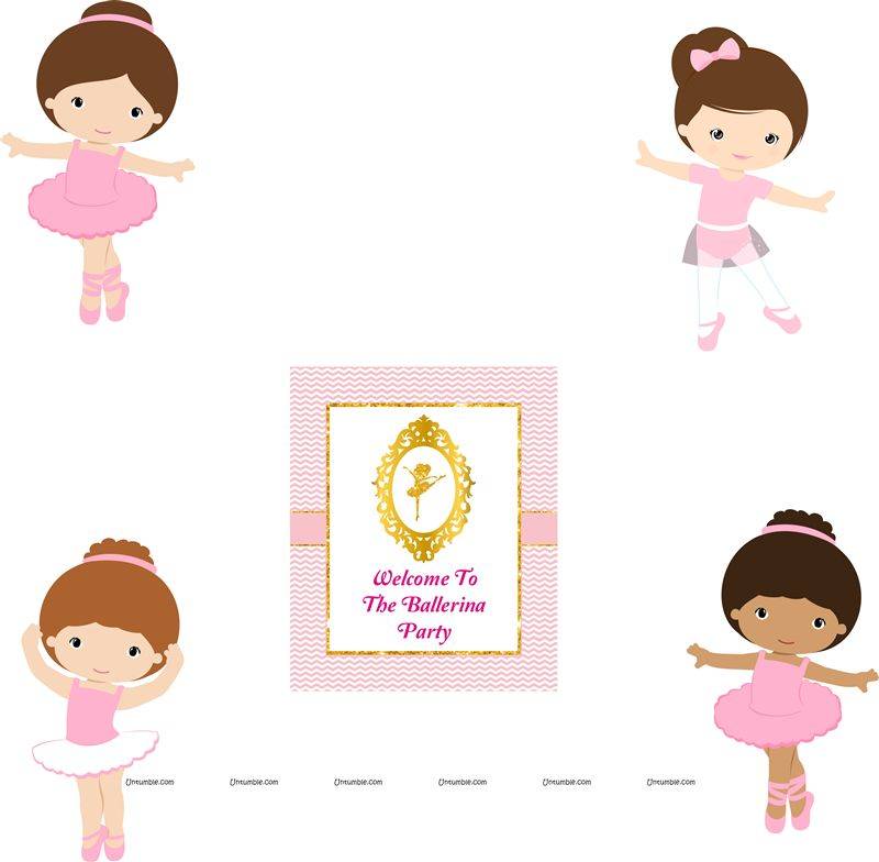 Ballerina Theme Poster Pack of 5