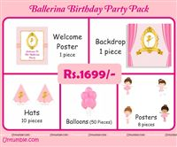 Ballerina Theme Mini Party Pack