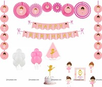 Ballerina Theme Paper Fan kit