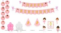Ballerina theme Super saver birthday decoration kit (Pack of 58 pieces)
