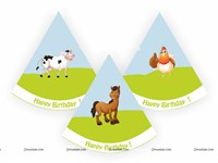 Farm Party Hats (Set of 6)