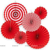 Red Paper Fan decorations