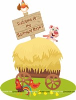 Barnyard welcome board