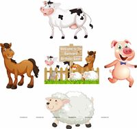 Barnyard Birthday theme Posters pack of 5