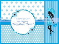 Pink & Blue Babyshower theme Thank you cards