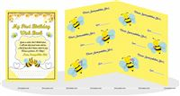 Bumble Bee Theme Birthday Wish Book