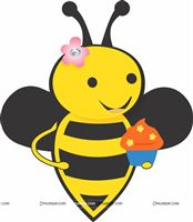 Bee with cupcake poster