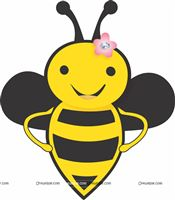 Smiling bee poster