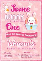 Bunny Party Invite