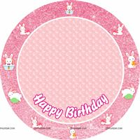 Bunny party round table cover