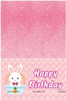 Bunny Party Table cover