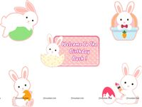 Posters pack of 5 - Bunny Theme Birthday Party Supplies