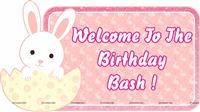 Bunny theme welcome poster