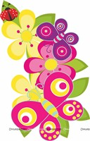 Pink and Yellow flowers posters