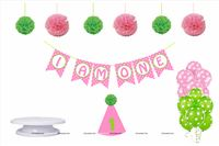 Cake Smash kit for baby girl (Pack of 29 Pieces)