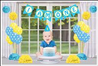 Cake Smash kit for baby boy (Pack of 29 Pieces)