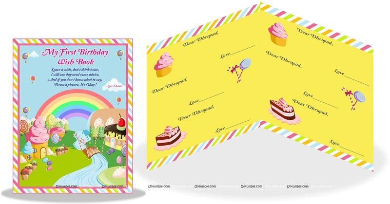 Candy Land Theme Wish Book