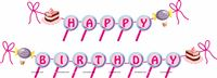 Candy Land Theme Happy Birthday Banner