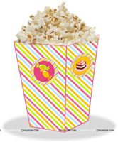 Candy Land Theme Pop Corn Tubs