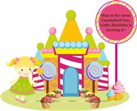 Girl Candyland Castle Welcome banner
