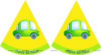 Cars Party Hats (Set of 6)