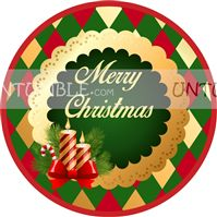 Christmas Candle favour tags