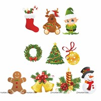Christmas Elements Poster Kit (Pack of 10 posters)