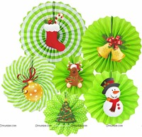 Christmas Paper fan decorations
