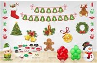 Christmas Party Decor Kit (Pack of 72 pcs)