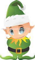 Green Elf Cutout