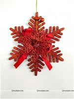 Red Christmas Snow flake dangler