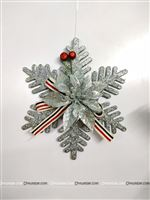 Silver Christmas Snow flake dangler