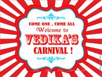 Circus Welcome Board