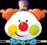 "Cute Clown Foil Balloon (36"")"