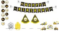 Construction theme Super saver birthday decoration kit (pack of 58 pcs)