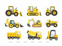 Wall posters - Construction theme birthday party supplies