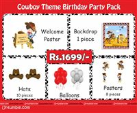 Cowboy Theme Mini Party Pack
