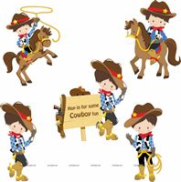 Cowboy Birthday theme Posters pack of 5