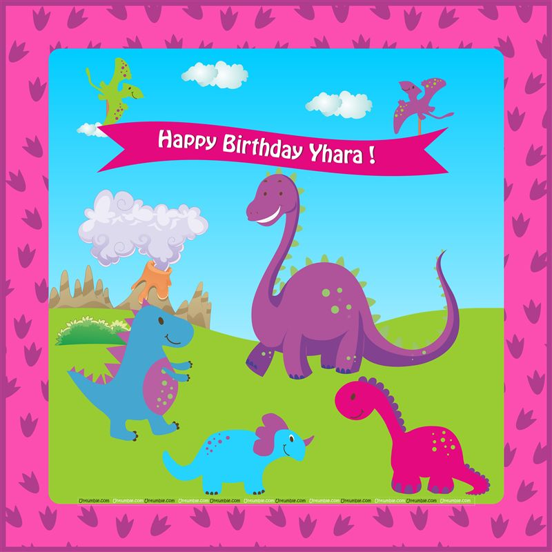 Pink Dinosaur Party Backdrop