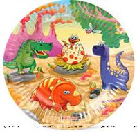 Dinosaur theme paper Plates (pack of 10)