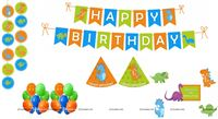 Dino theme Super saver birthday decoration kit (pack of 58 pcs)