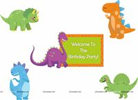 Posters pack of 5 - Dino Theme Supplies | Dinosaur Party Decorations