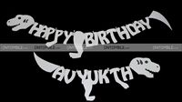 Dino Bones shaped Happy Birthday Bunting