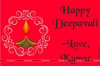 Festive Red Happy Deepavali tag (Pack of 24 pcs)